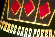 Casino Party Events rental Three Card Poker, Three Card Poker for rent Catering