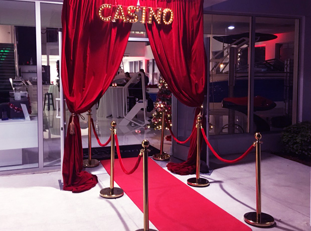 Casino themed party decorations | Fort Lauderdale FL